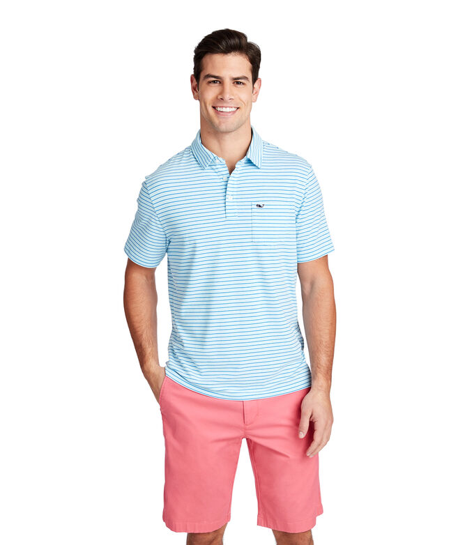 Edgartown Tri-Color Stripe Polo
