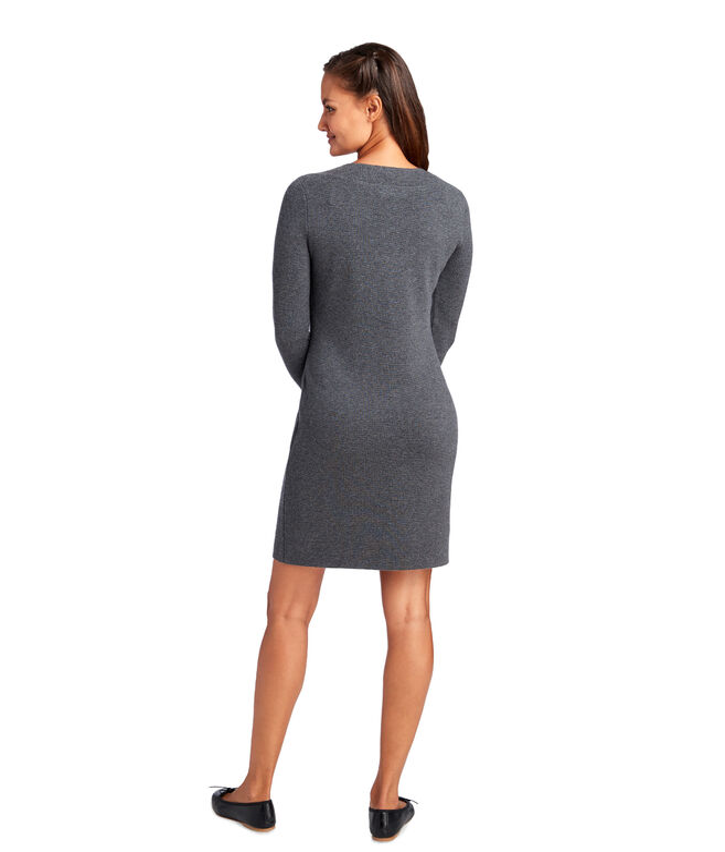 Lace Up Sweater Dress
