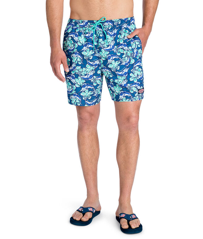 Marlin Flowers Chappy Trunks
