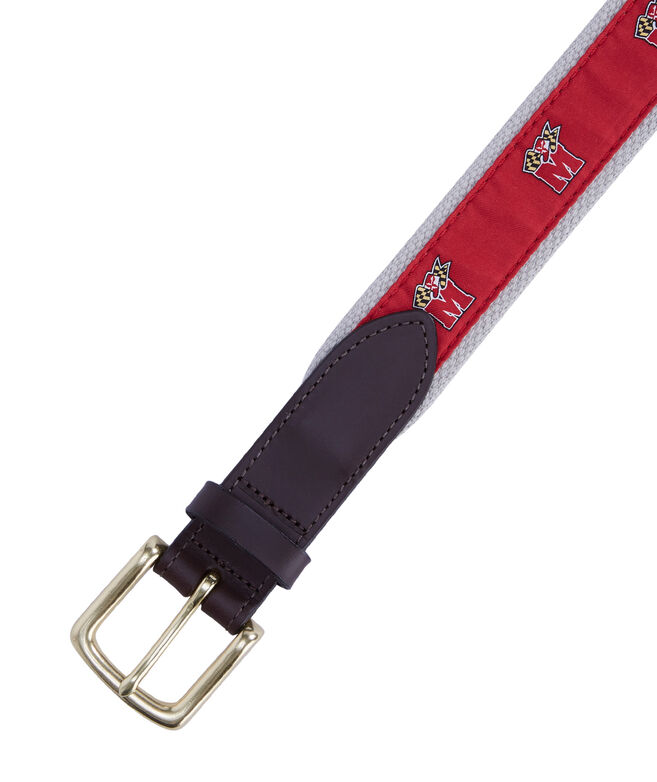 University of Maryland Canvas Club Belt
