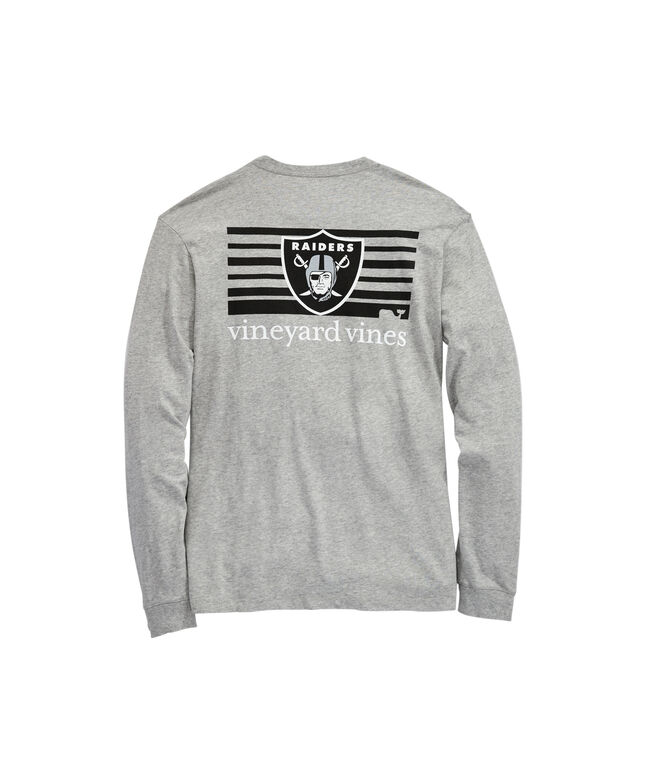 Oakland Raiders Long-Sleeve Block Stripe T-Shirt