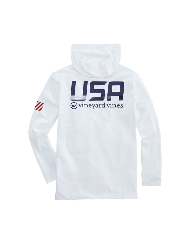 Long-Sleeve Performance USA Hoodie