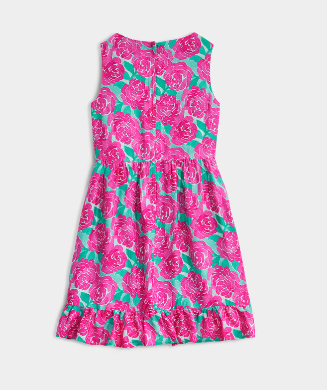 Girls' Painted Rose Dress