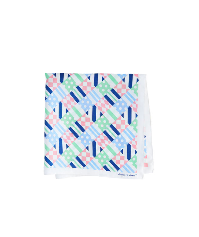 Kentucky Derby Patchwork Pocket Square