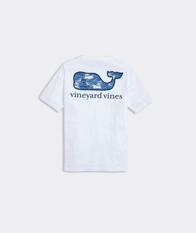 Boys' Rough Waters Whale Fill Short-Sleeve Pocket Tee
