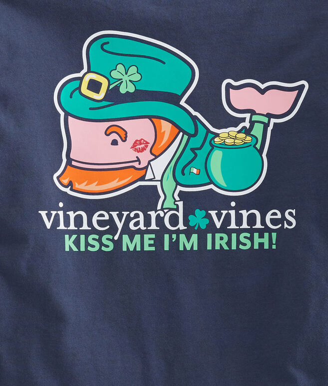 Boys Long-Sleeve Kiss Me I'm Irish Pocket T-Shirt
