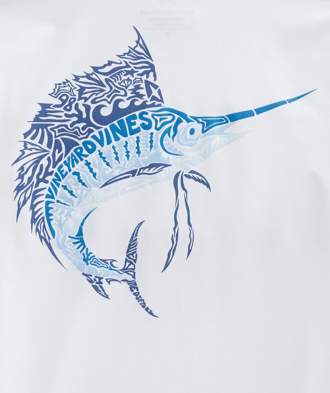 Boys' Long-Sleeve Sailfish Icon Fill Rashguard