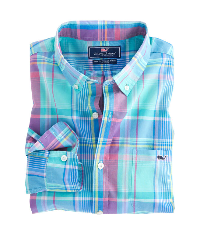 North Hill Plaid Slim Tucker Shirt