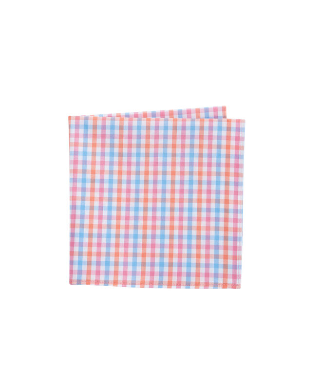 Albert Lake Gingham Pocket Square