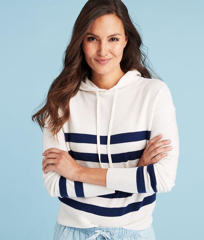 Stripe Pullover Hoodie Sweater