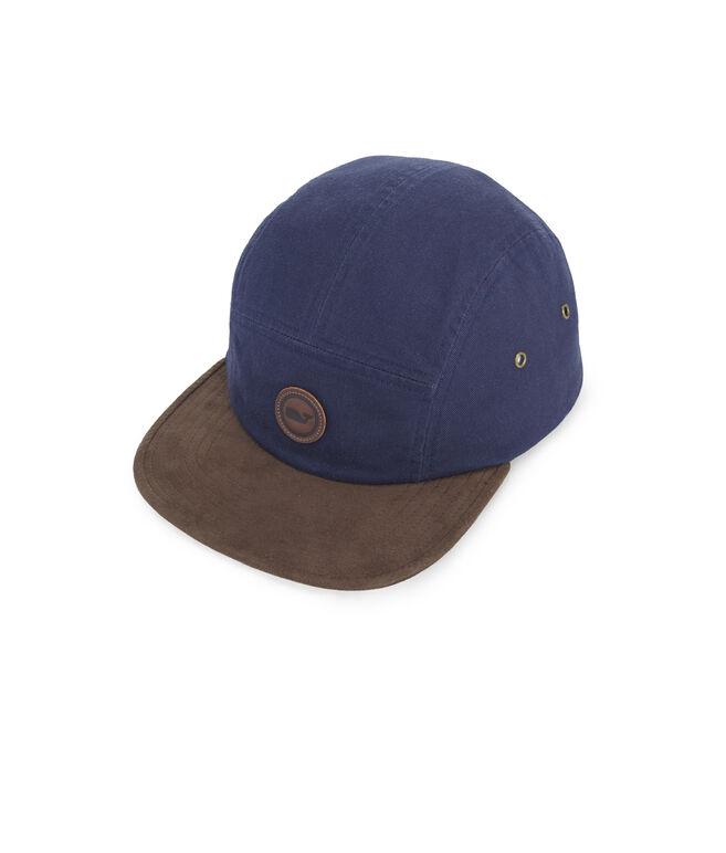 Suede Brim Five Panel Hat