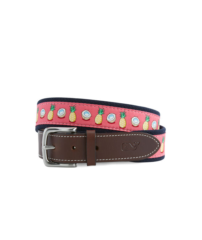 Pineapple & Coconut Canvas Club Belt