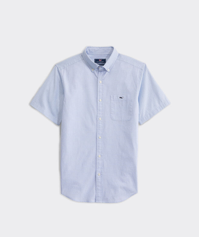 Slim Fit Dragonfish Tucker Short-Sleeve Button-Down Shirt
