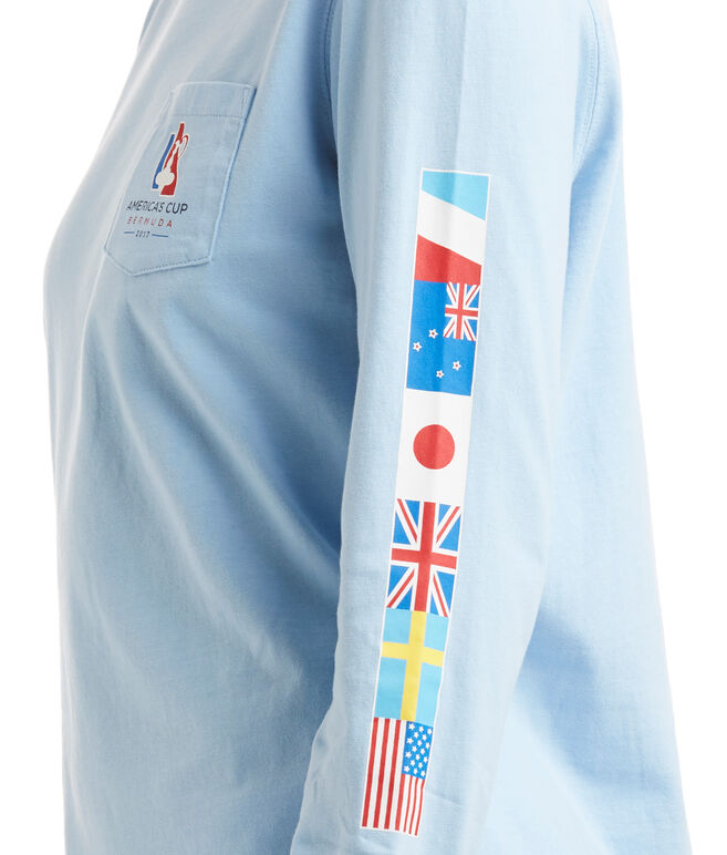 America's Cup Long-Sleeve Ring Of Flags Tee