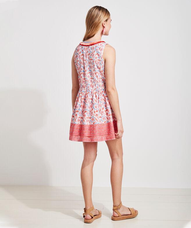 Frangipani Floral Pintuck Dress