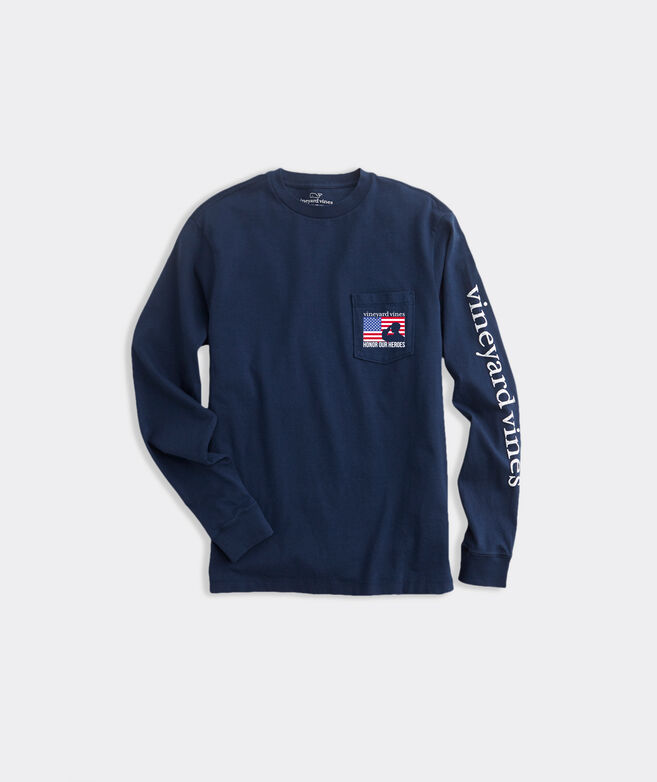 Limited-Edition USA Salute Long-Sleeve Pocket Tee