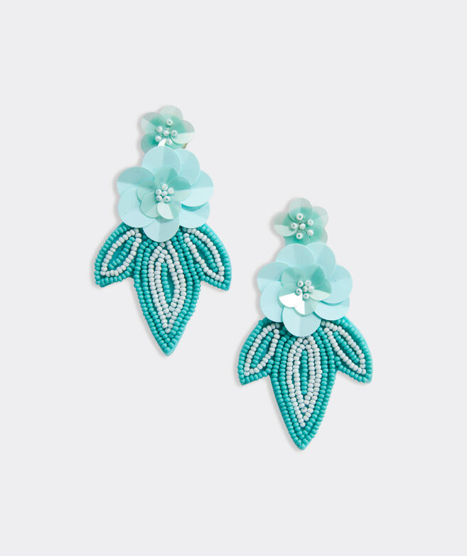 Hibiscus Floral Statement Earrings