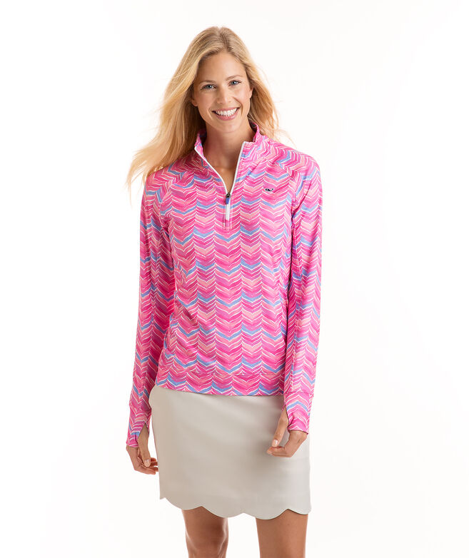 Printed Whale Tail 1/4-Zip
