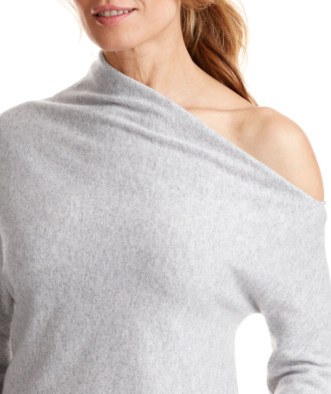 Cashmere One Shoulder Sweater