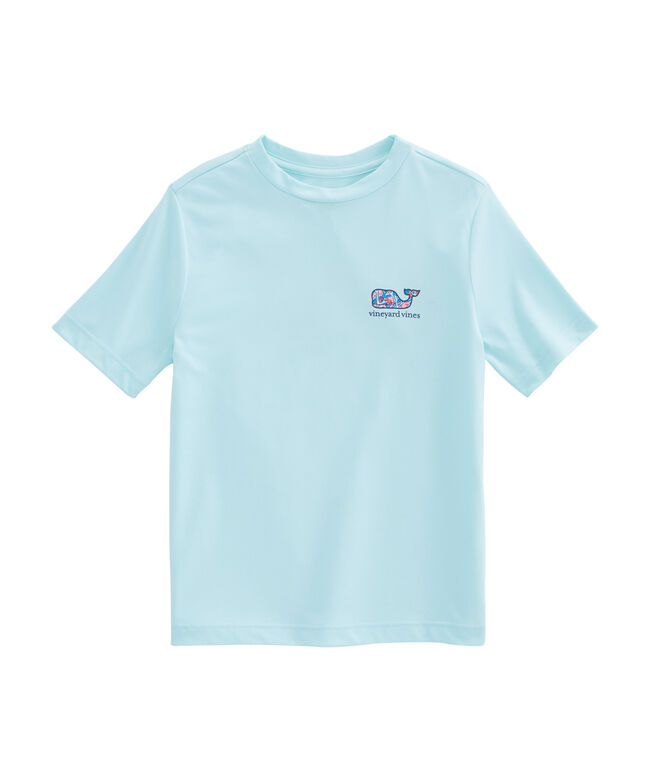 Boys Bonefish & Coral Whale Fill Performance T-Shirt