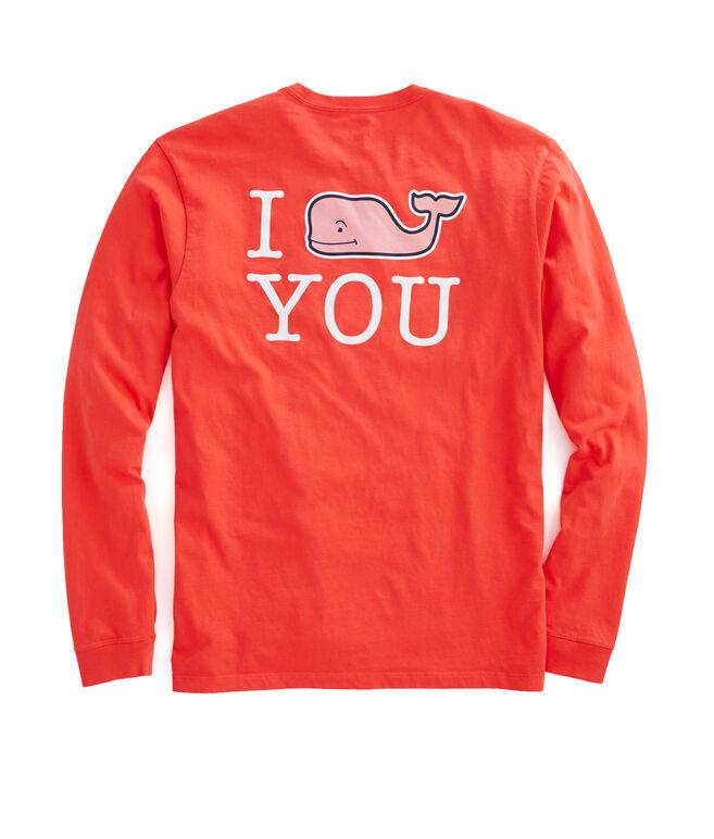Mens Long-Sleeve I Whale You Pocket T-Shirt
