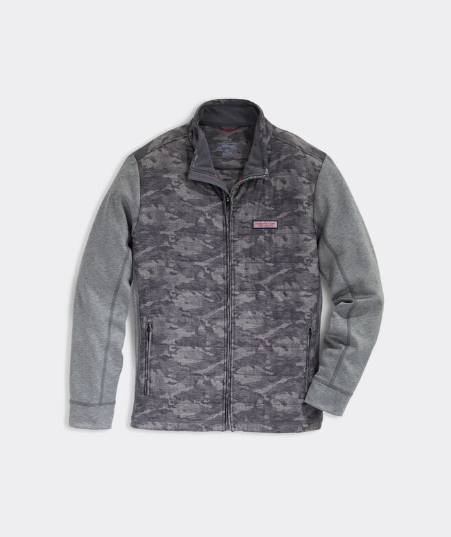 Camo Hybrid Full-Zip Jacket