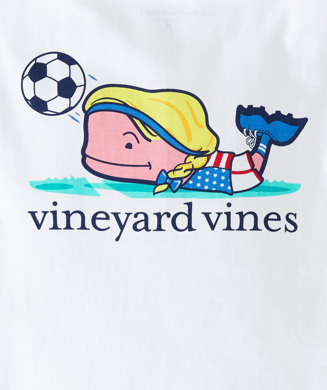 Girls' Soccer Whale Short-Sleeve Pocket Tee