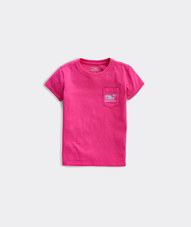 Girls' Kentucky Derby Exploded Rose Whale Fill Short-Sleeve Pocket Tee