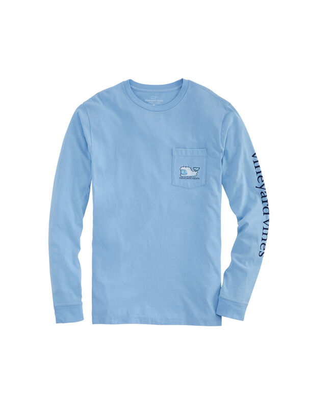 Yeti Whale Long-Sleeve Pocket T-Shirt
