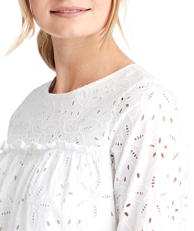 ef9c8cddd16 Shop Eyelet Tiered Top at vineyard vines