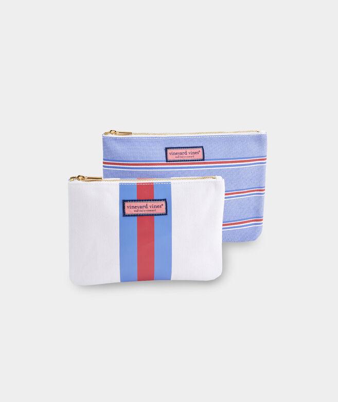 Nicholls Stripe 2-Pack Cosmetic Set