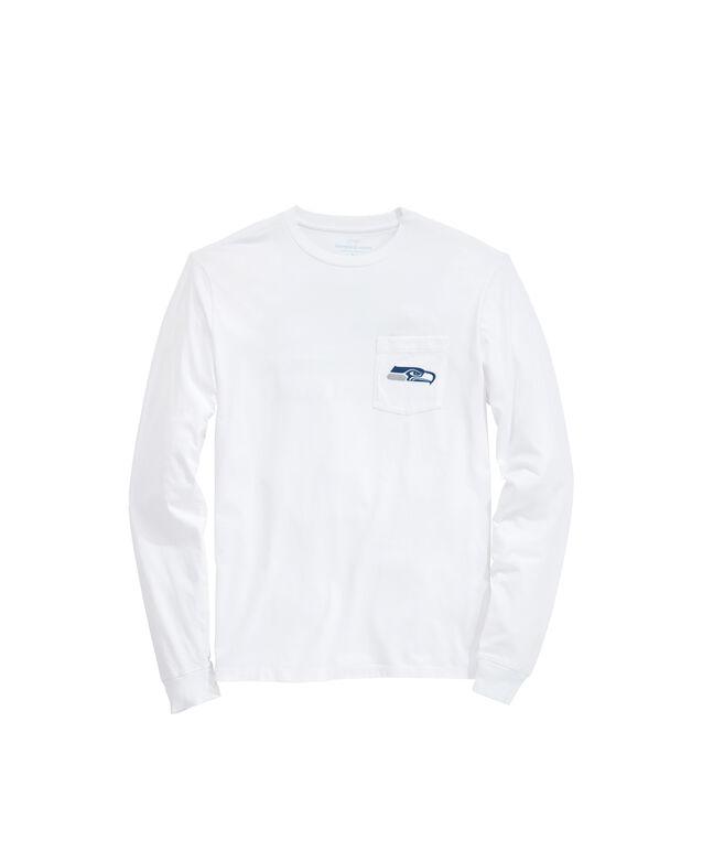 Seattle Seahawks Long-Sleeve Block Stripe T-Shirt