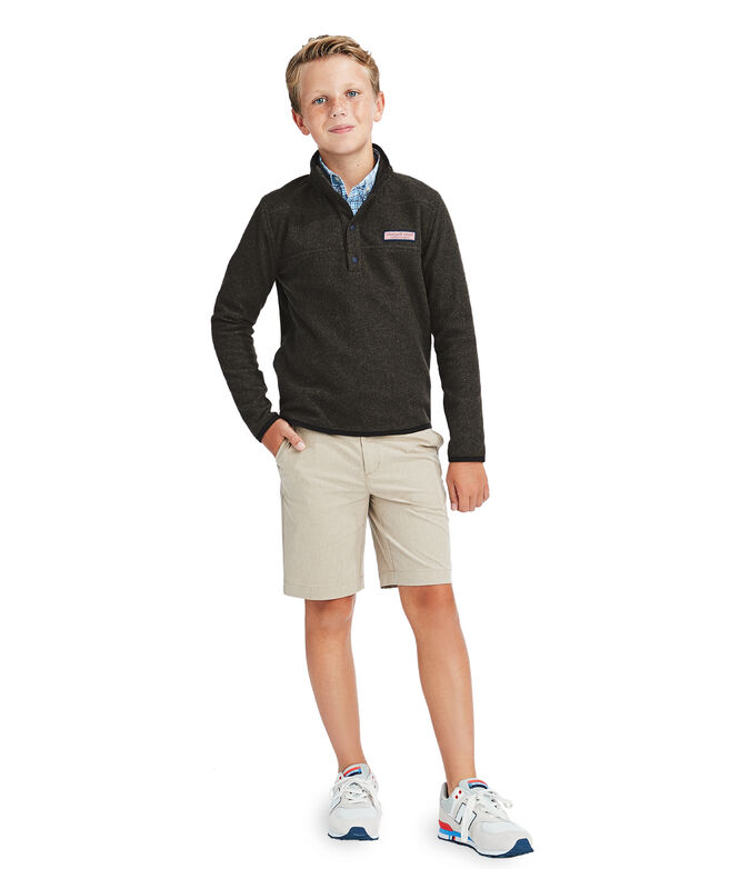 Boys Snap Placket Fleece Shep Shirt