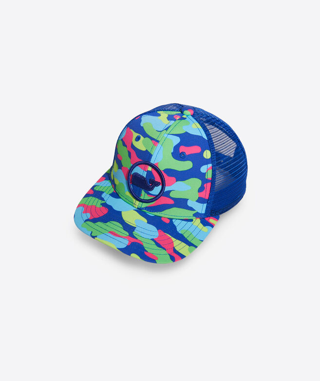 Boys' Speckled Camo Whale Dot Trucker Hat