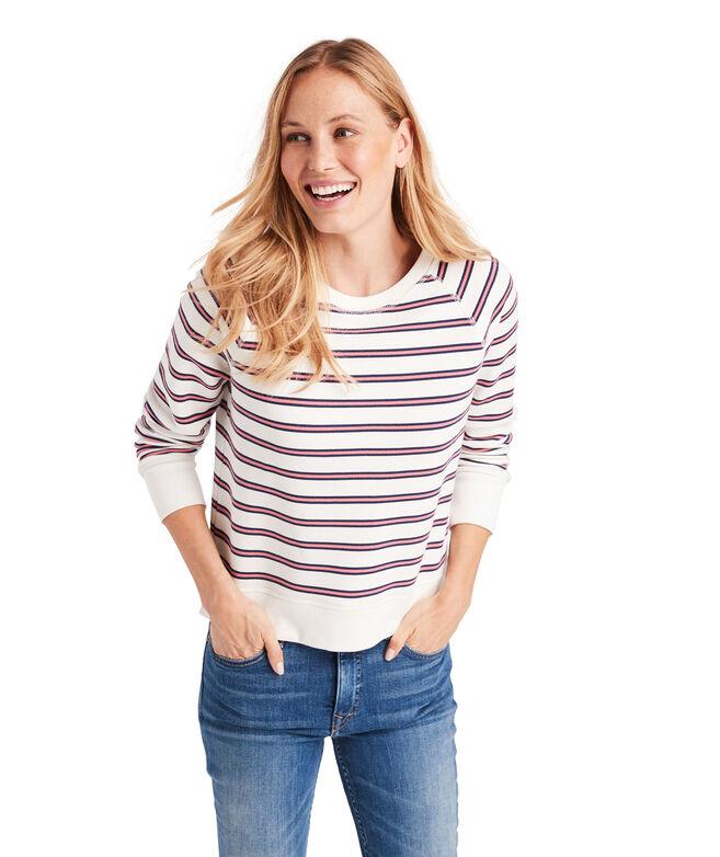 Campus Stripe Crewneck Sweatshirt