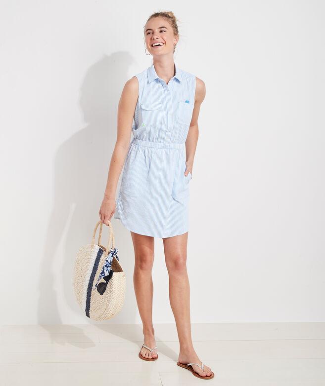 Harbor Sleeveless Shirt Dress