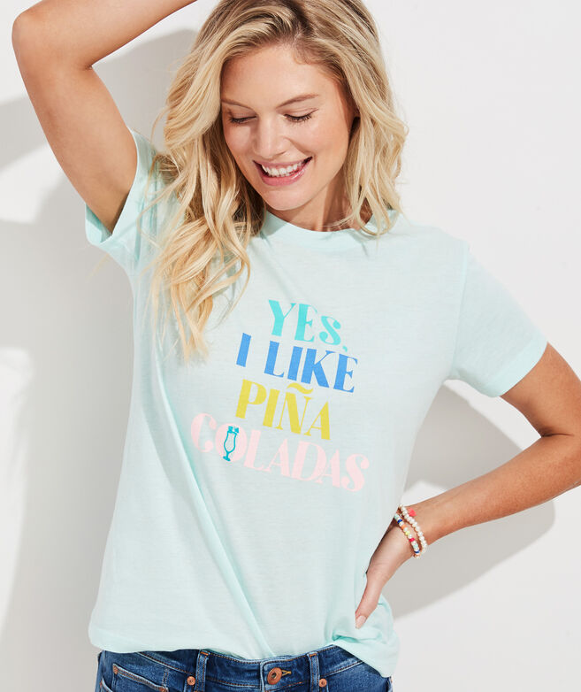 Yes I Like Pina Coladas Short-Sleeve Island Tee