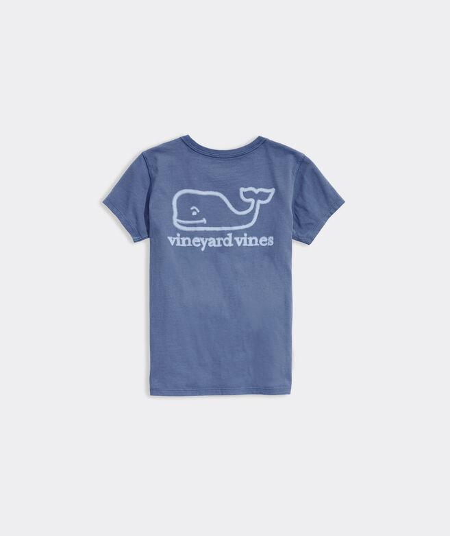 Girls' Bleached Whale Short-Sleeve Pocket Tee