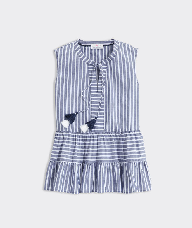 Simple Stripe Tiered Top