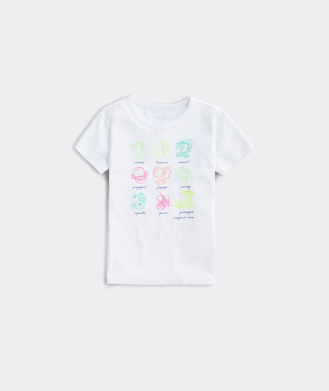 Girls' Fruits of the Bahamas Short-Sleeve Ringer Tee