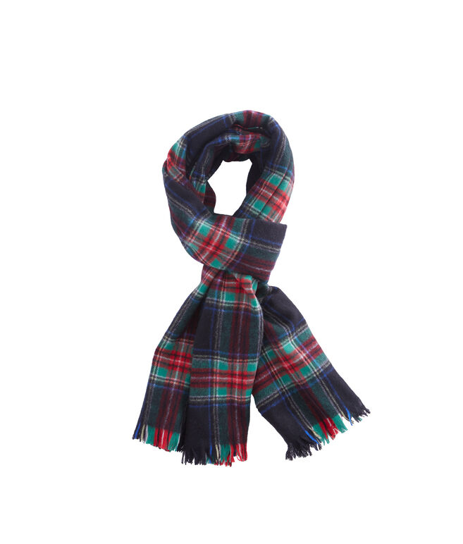 Holiday Cashmere Plaid Scarf