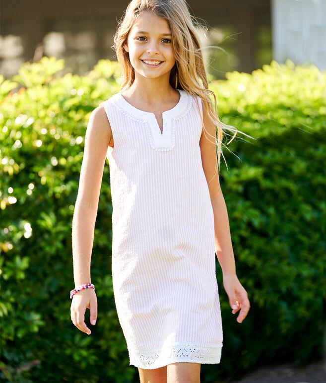 Girls Seersucker Vineyard Tunic Dress