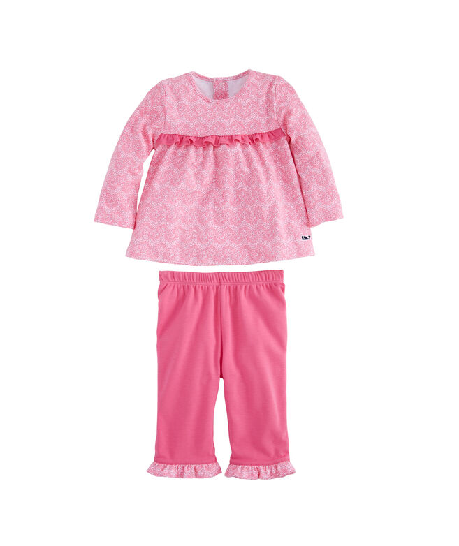 Baby Girl Painted Shell Reversible Outfit