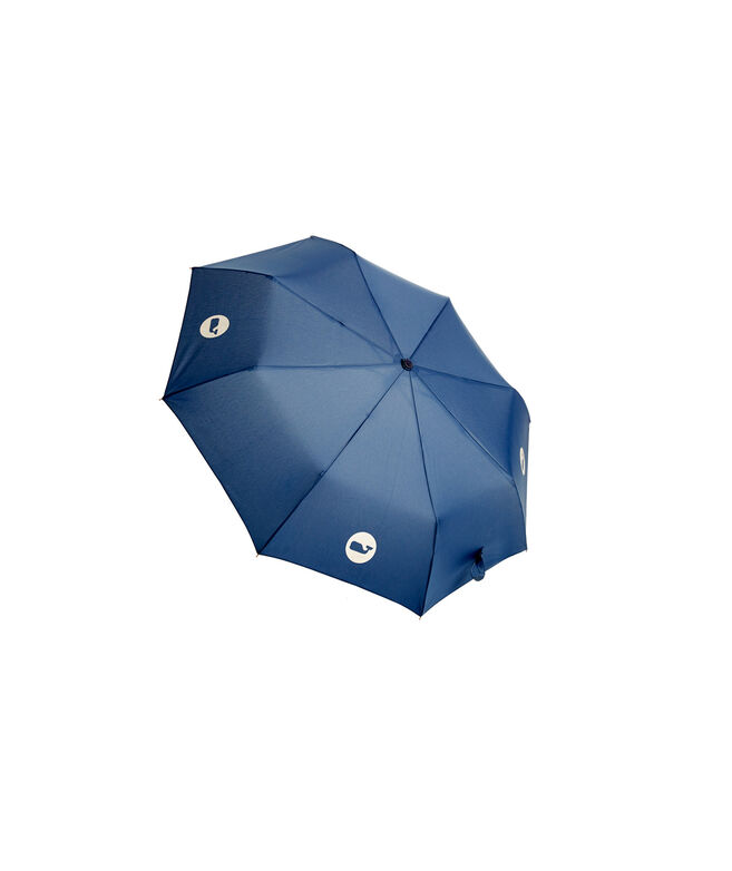 Compact Whale Dot Umbrella