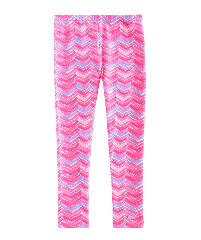 Girls Whale Tail Knit Leggings