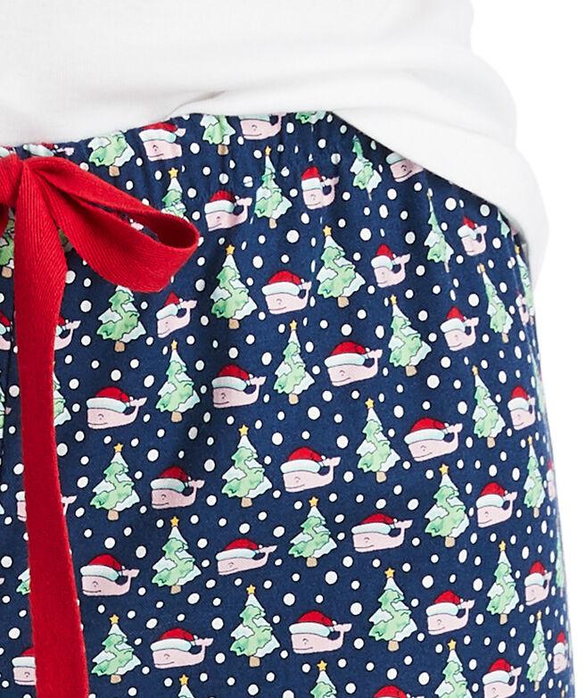 Santa Whale & Tree Pajama Pants