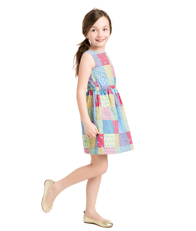 Girls Original Patchwork Tie Dress