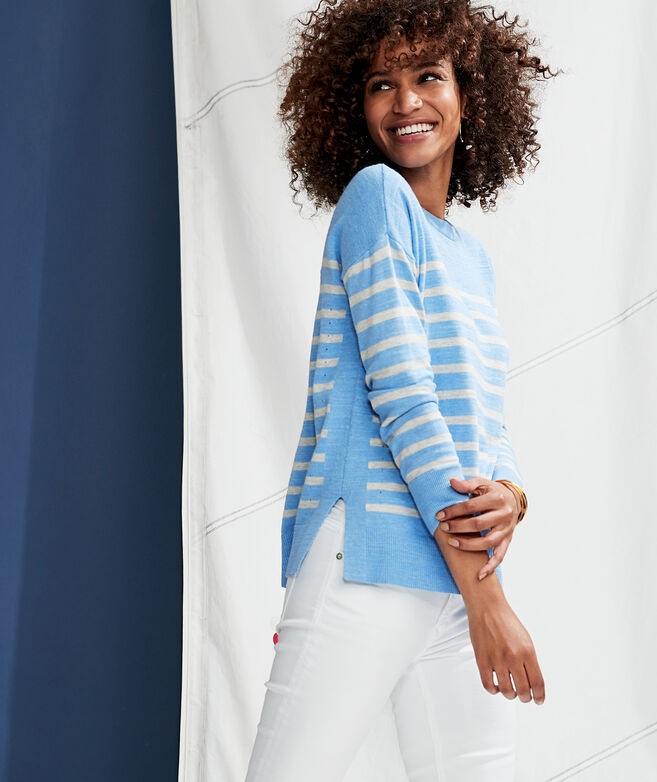 Relaxed Striped Cotton Sweater