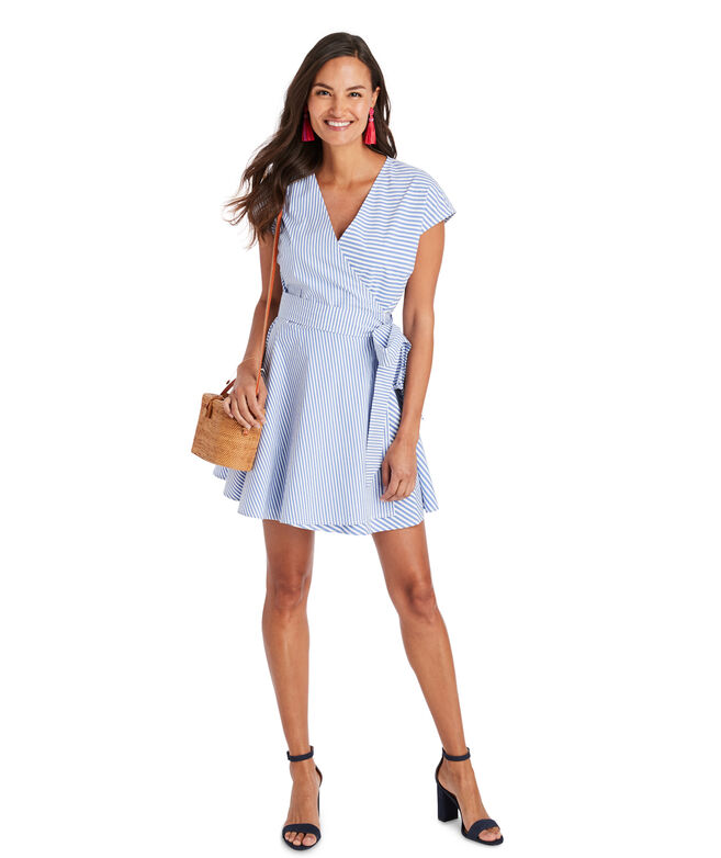 Grier Stripe Mix Wrap Dress