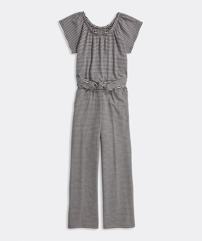 Girls' Tie-Waist Knit Jumpsuit